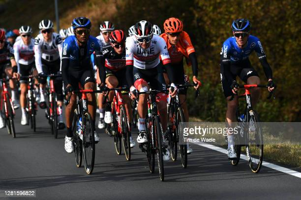Amanuel Ghebreigzabhier Werkilul of Eritrea and NTT Pro Cycling Team / Joseph Lloyd Dombrowski of The United States and UAE Team Emirates / Matthew...