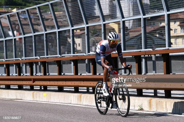 Amanuel Ghebreigzabhier Werkilul of Eritrea and Team Trek - Segafredo during the 104th Giro d'Italia 2021, Stage 17 a 193km stage from Canazei to...