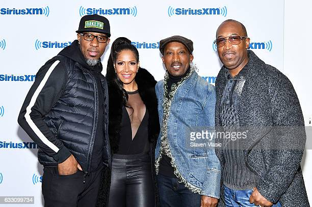 Amar Khalil Sheree Whitfield Dwayne Wiggins and Timothy Christian Riley visit SiriusXM Studios on January 30 2017 in New York City
