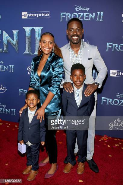 Amaré Michael Ryan Christian Brown Ryan Michelle Bathe Andrew Jason Sterling Brown and Actor Sterling K Brown attend the world premiere of Disney's...