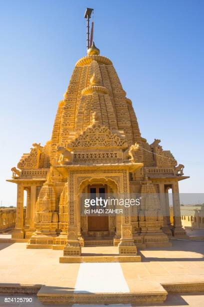 amar sagar jain temple | jaisalmer | rajasthan | india - jain temple stock photos and pictures