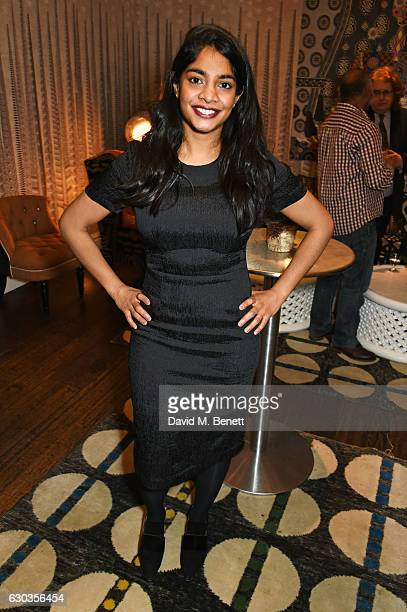 Amara Karan attends a VIP screening of 'Sing Street' hosted by Harvey Weinstein and Dominic West at The Soho Hotel on December 21 2016 in London...