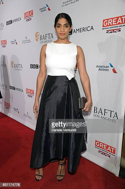 Amara Karan attends The BAFTA Tea Party at Four Seasons Hotel Los Angeles at Beverly Hills on January 7 2017 in Los Angeles California