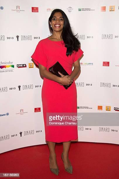 Amara Karan attends the Dinard British film festival closing ceremony on October 5 2013 in Dinard France