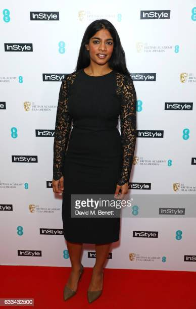Amara Karan attends the InStyle EE Rising Star Party ahead of the EE BAFTA Awards at The Ivy Soho Brasserie on February 1 2017 in London England