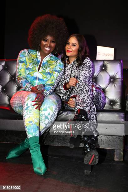 Amara La Negra and Angela Yee speak onstage during Angela Yee's Lip Service at Highline on February 13 2018 in New York City