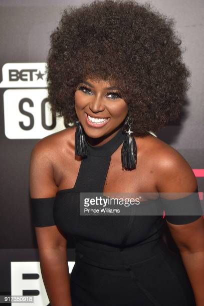 Amara La Negra attends BET Social Awards Red Carpet at Tyler Perry Studio on February 11 2018 in Atlanta Georgia