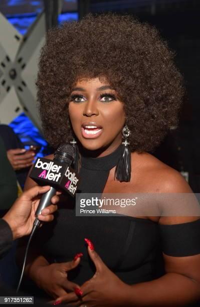 Amara La Negra attends BET Social Awards Red Carpet at Tyler Perry Studio on February 11 2018 in Atlanta Georgia