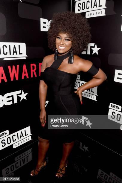 Amara La Negra attends BET's Social Awards 2018 at Tyler Perry Studio on February 11 2018 in Atlanta Georgia