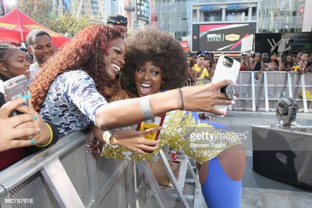 Amara La Negra attends BETX Live presented by Denny's during the 2018 BET Experience at Microsoft Square at LA Live on June 21 2018 in Los Angeles...