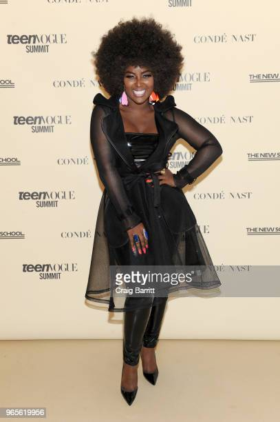 Amara La Negra attends Teen Vogue Summit 2018: #TurnUp - Day 1 at The New School on June 1, 2018 in New York City.