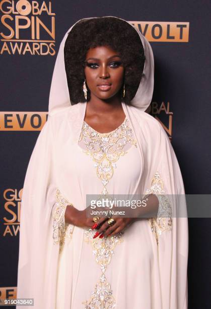Amara La Negra attends the 2018 Global Spin Awards at The Novo by Microsoft on February 22 2018 in Los Angeles California