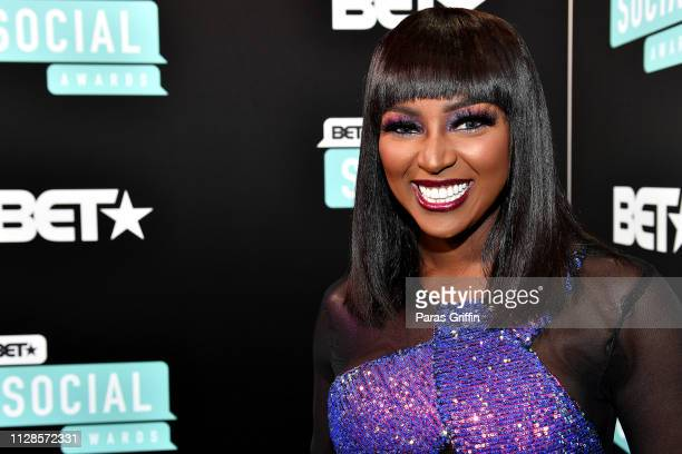 Amara La Negra attends the 2019 BET Social Awards at Tyler Perry Studio on March 3 2019 in Atlanta Georgia