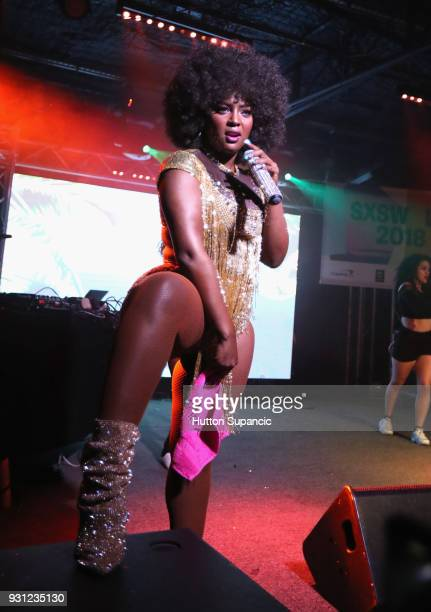 Amara La Negra performs onstage at Meow Wolf during SXSW at Empire Garage on March 12 2018 in Austin Texas