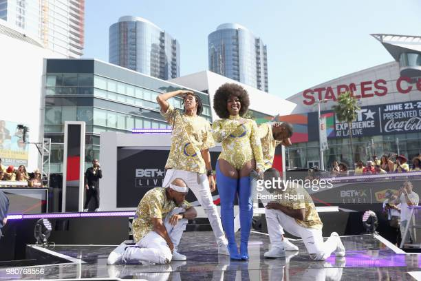 Amara La Negra performs onstage during BETX Live presented by Denny's during the 2018 BET Experience at Microsoft Square at LA Live on June 21 2018...