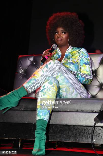 Amara La Negra speaks onstage during Angela Yee's Lip Service at Highline on February 13 2018 in New York City