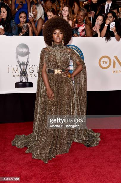 Amara Le Negra attends the 49th NAACP Image Awards at Pasadena Civic Auditorium on January 15 2018 in Pasadena California