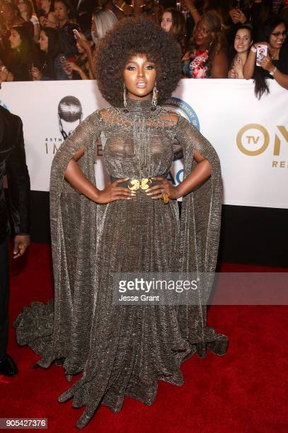 Amara Le Negra attends the 49th NAACP Image Awards at Pasadena Civic Auditorium on January 15 2018 in Pasadena California