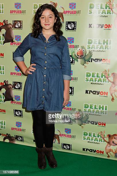 Amara Miller attends the Delhi Safari Los Angeles premiere at Pacific Theatre at The Grove on December 3 2012 in Los Angeles California
