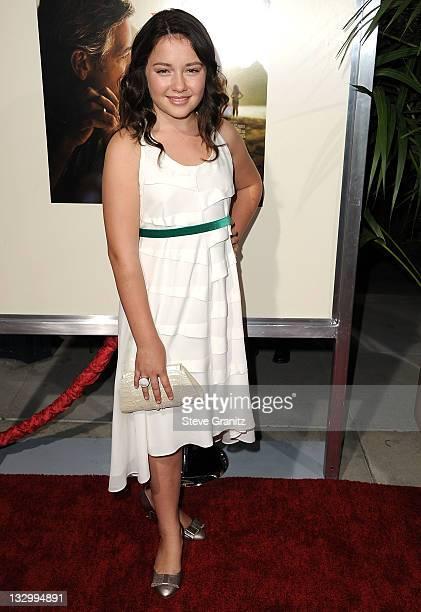 Amara Miller attends 'The Descendants' Los Angeles Premiere at AMPAS Samuel Goldwyn Theater on November 15 2011 in Beverly Hills California