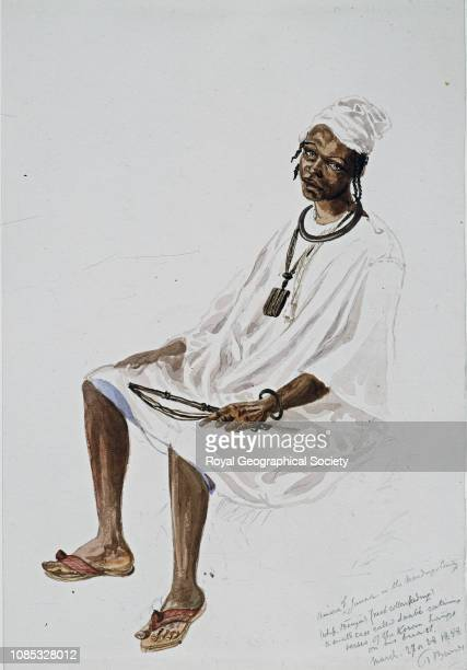 Amara of Janna in the Mandingo country a small case called a saabe containing verses of the Koran hangs on his breast Guinea