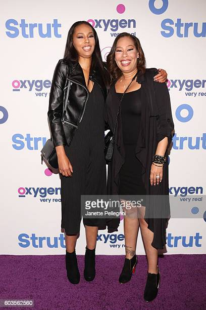 Amarah Skye Martin and Alexandrea MartinDean attend the Strut New York Premeire at Marquee on September 12 2016 in New York City