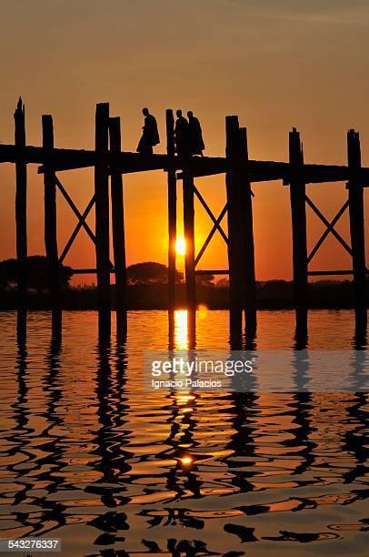 Amarapura bridge sunset