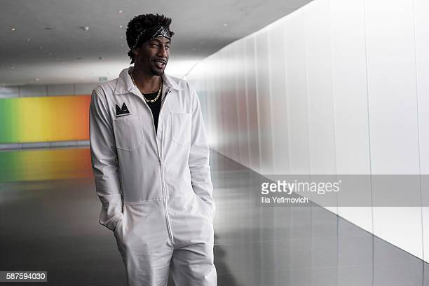Amar'e Stoudemire a former NBA player visits Israel Museum on August 9 2016 in Jerusalem Israel Amar'e joined Israeli team Hapoel Jerusalem