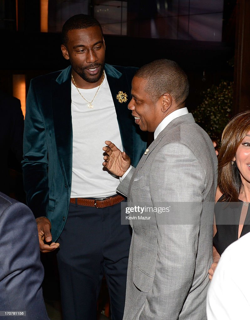 Amare Stoudemire and Jay-Z attend The 40/40 Club 10 Year Anniversary Party at 40 / 40 Club on June 17, 2013 in New York City.