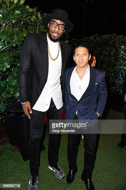 Amar'e Stoudemire and Robbie Antonio attend the SURFACE Magazine and W South Beach Hotel Residences present Design Dialogues No 23 at W South Beach...