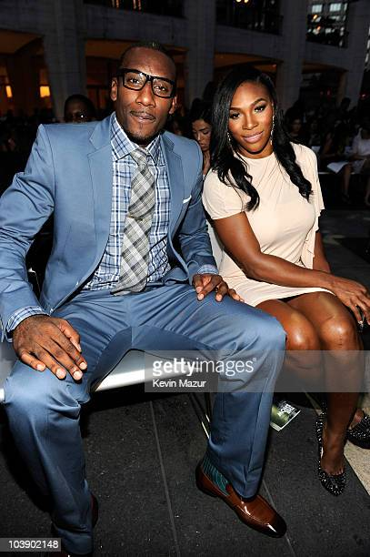 Amare Stoudemire and Serena Williams attends Fashion's Night Out The Show at Lincoln Center on September 7 2010 in New York City