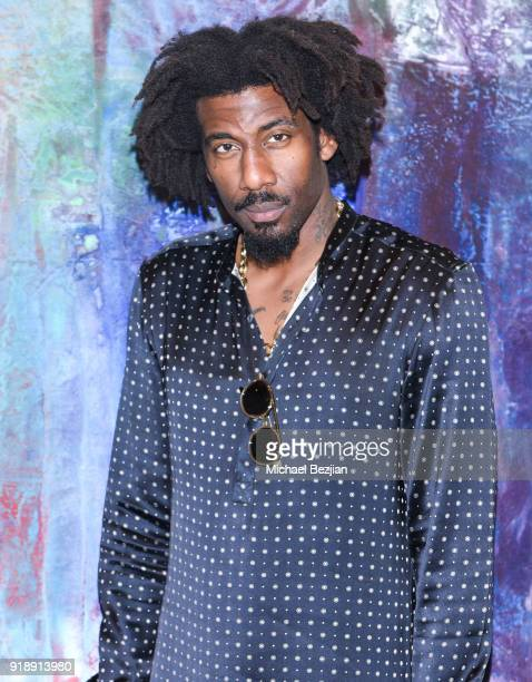 Amare Stoudemire attends Amare Stoudemire hosts ART OF THE GAME art show presented by Sotheby's and Joseph Gross Gallery on February 15 2018 in Los...