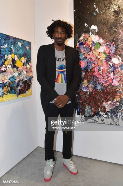 Amar'e Stoudemire attends Art Miami VIP Preview at Art Miami Pavilion on December 6 2017 in Miami Beach Florida