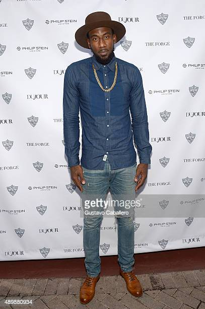 Amare Stoudemire attends DuJour Magazine's Jason Binn The Forge's Shareef Malnik welcome Amar'e Stoudemire to the Miami Heat presented by Philip...