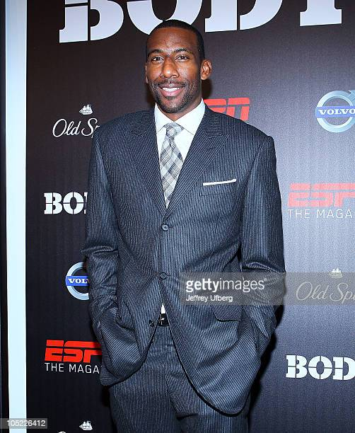 Amare Stoudemire attends ESPN the magazine's 2nd annual Body Issue celebration at Skylight Studio on October 12 2010 in New York City