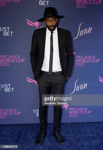 Amare Stoudemire attends the 2021 Pegasus World Cup Championship Invitational Series at Gulfstream Park on January 23, 2021 in Hallandale Beach,...