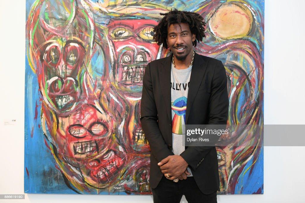 Amar'e Stoudemire attends the Art Miami CONTEXT 2017 at Art Miami Pavilion on December 5, 2017 in Miami, Florida.