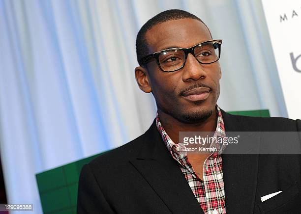 Amar'e Stoudemire attends the Land Rover Manhattan and Gotham Magazine host the launch of 2012 Range Rover Evoque and October Issue with Amar'e...