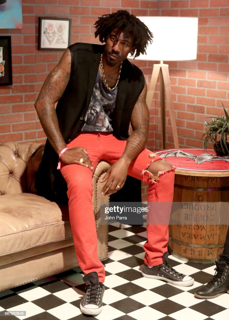 Amar'e Stoudemire attends the VIP Preview of BACARDI, Swizz Beatz And The Dean Collection Bring NO COMMISSION Back To Miami To Celebrate 'Island Might' at Soho Studios on December 7, 2017 in Miami, Florida.