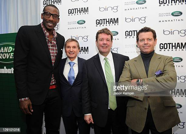 Amar'e Stoudemire Gary Flom Andy Goss and Steve McGovern attend the Land Rover Manhattan And Gotham Magazine Host Launch Of 2012 Range Rover Evoque...