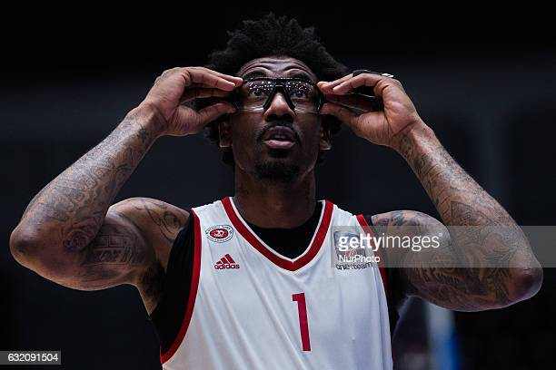 Amare Stoudemire of Hapoel Jerusalem during the EuroCup Top 16 Round 2 basketball match between Zenit and Hapoel Jerusalem at the Yubileyni Arena in...