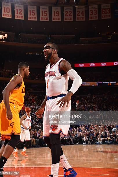 December 4: Amar'e Stoudemire of the New York Knicks during the game against the Cleveland Cavaliers on December 4, 2014 at Madison Square Garden in...