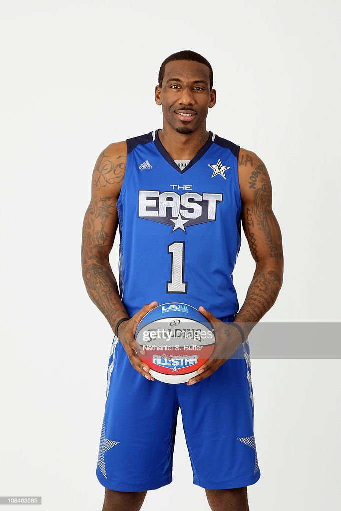 Amar'e Stoudemire #1 of the New York Knicks poses for a portrait wearing