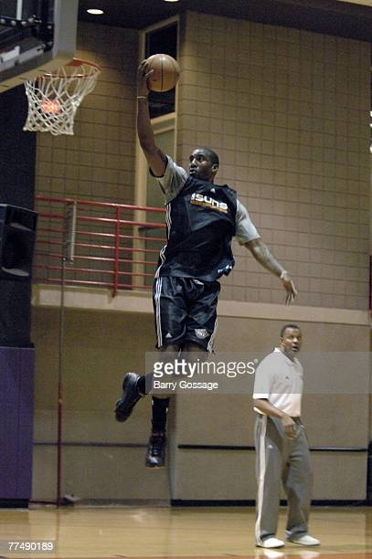 Amare Stoudemire of The Phoenix Suns shoots a layup during the broadcast of NBA TV today behindthescenes at Phoenix Suns practice at US Airways...