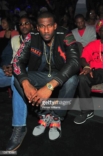 Amar'e Stoudemire seated during the BET Hip Hop Awards 2011 at the Boisfeuillet Jones Atlanta Civic Center on October 1 2011 in Atlanta Georgia
