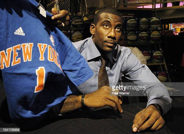 0c3e518ae Amar e Stoudemire visits the NBA Store on September 15 2010 in New York City