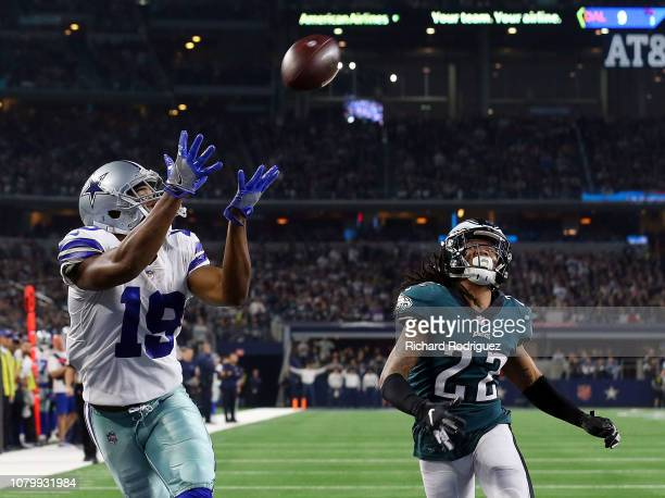 Amari Cooper of the Dallas Cowboys makes a touchdown reception against Sidney Jones of the Philadelphia Eagles in the fourth quarter at ATT Stadium...