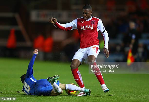 AmariÕi Bell of Fleetwood Town during the Sky Bet League One match between Peterborough United and Fleetwood Town at London Road Stadium on November...