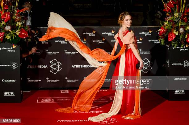 Amarna Miller attends the 'Brava' premiere on day 5 of the 20th Malaga Film Festival at the Cervantes Teather on March 21 2017 in Malaga Spain
