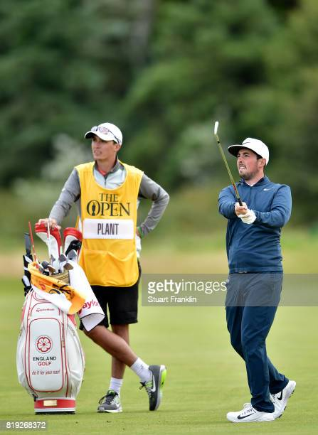 Amateur Alfie Plant of England in action on the 5th hole during the first round of the 146th Open Championship at Royal Birkdale on July 20 2017 in...
